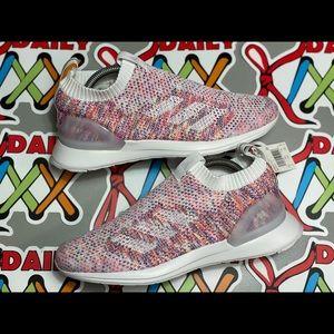 NEW Women's Adidas Cloudfoam Laceless Wht/Pnk